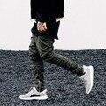 2016 Mais Novo dos homens de hip hop calças zíperes laterais corredores temor de deus dos homens casuais harem pants calças pantalon homme