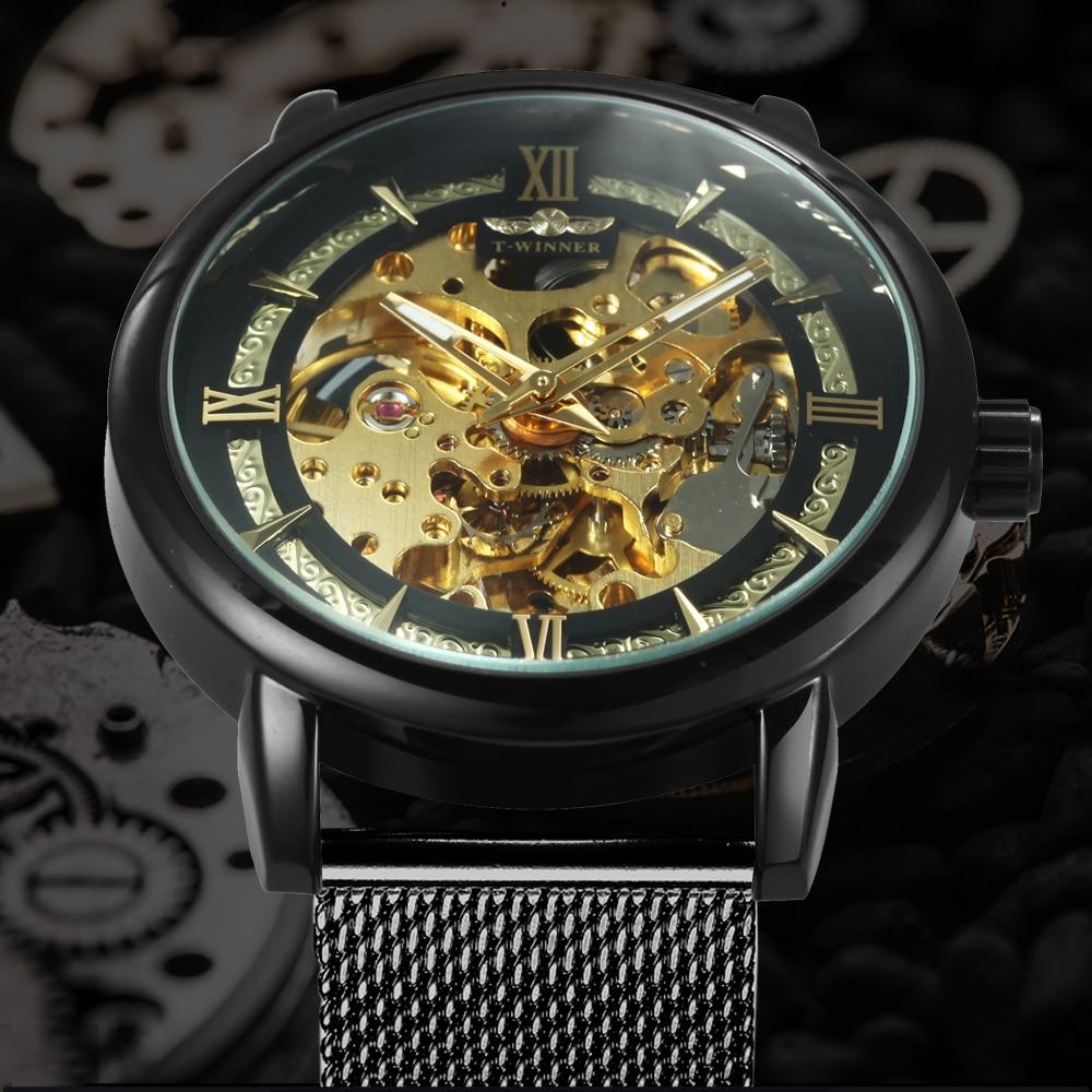 HTB1Ts7FdlWD3KVjSZKPq6yp7FXah WINNER Official Fashion Casual Men Mechanical Watch Blue Mesh Strap Ultra Thin Skeleton Mens Watches Top Brand Luxury Clock 2019
