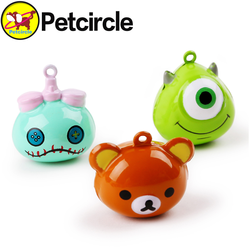 petcircle new arrival hot pet necklace cartoon and double color pet bells 2 color dog accessories free shipping send string