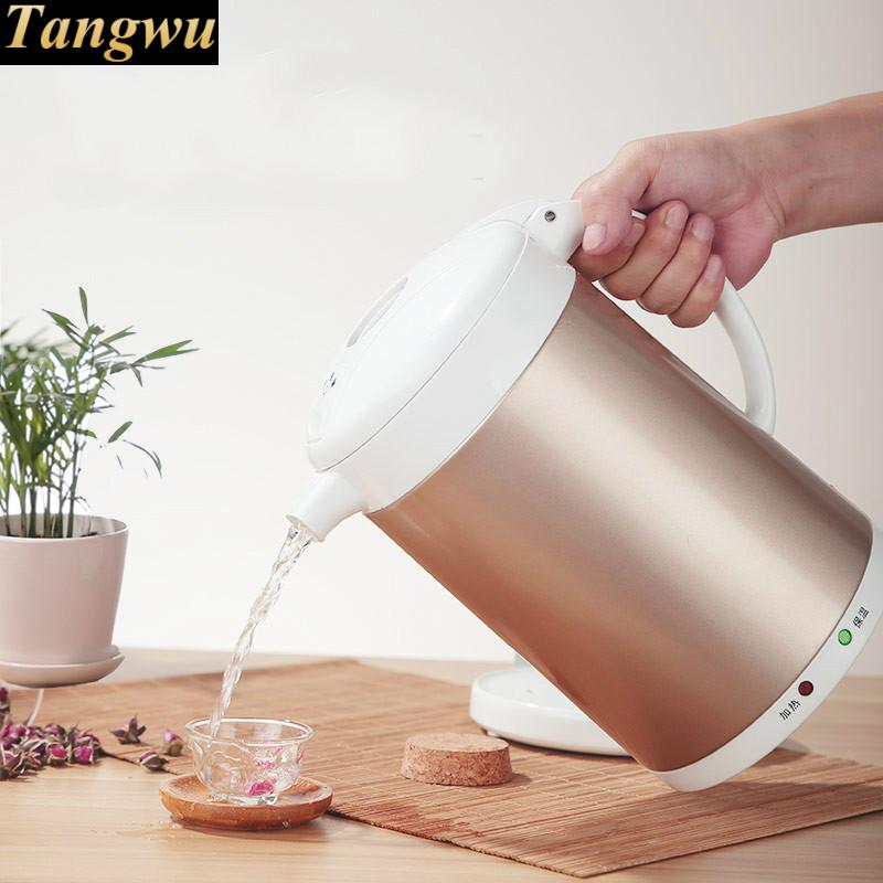 Electric kettle 2L home heat insulation 304 stainless steel boiling pot tea Safety Auto-Off Function electric kettle boiling pot 304 stainless steel home insulation 1 5l safety auto off function