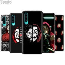 La Casa de papel Black Soft Case for Huawei P20 P30 Pro P9 P10 Lite P Smart Plus Mate 10 20 Cover