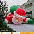 5 m de Alta grande inflable de navidad de Santa Claus decoración de la pared de escalada 16ft alta China fábrica venta directa BG-A1266 festival juguete