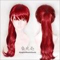 Anime Persona 5 P5R Yoshizawa Kasumi Cosplay Perücken Lange Rot Pferdeschwanz Wärme Beständig Synthetische Haar Perücke + Perücke Kappe