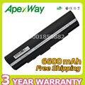 Apexway 6600 mah 9 células bateria do portátil para asus eee pc 1201 1201 t 1201n 1201nl 1201pn 1201ha 1201 k ul20g a32-ul20 a31-ul20