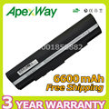 Apexway 6600 mah 9 celdas de batería portátil para asus eee pc 1201 1201 t 1201n 1201ha 1201 k 1201nl 1201pn a31-ul20 a32-ul20 ul20g