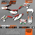 Customized Team Graphics  Backgrounds Decals 3M  Stickers For KTM Italy Sixdays SX F E XC F W 2008 - 2012 2013 2015 2016 2017