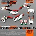 Equipe de Gráficos Fundos Decalques personalizados 3 M Adesivos Para KTM SX Itália Sixdays F E XC F W 2008-2012 2013 2015 2016 2017
