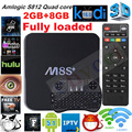 M8S Plus/M8S + Caixa de TV Android 5.1 Amlogic S812 Quad Core 2.4G & 5G Wifi 2 GB/8 GB H.265 3D 4 K Media player Set top box + teclado