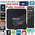 M8S Plus/M8S + Caja de la TV Androide 5.1 Amlogic S812 Quad Core 2.4G y 5G Wifi 2 GB/8 GB H.265 3D 4 K Media player Set top box + teclado