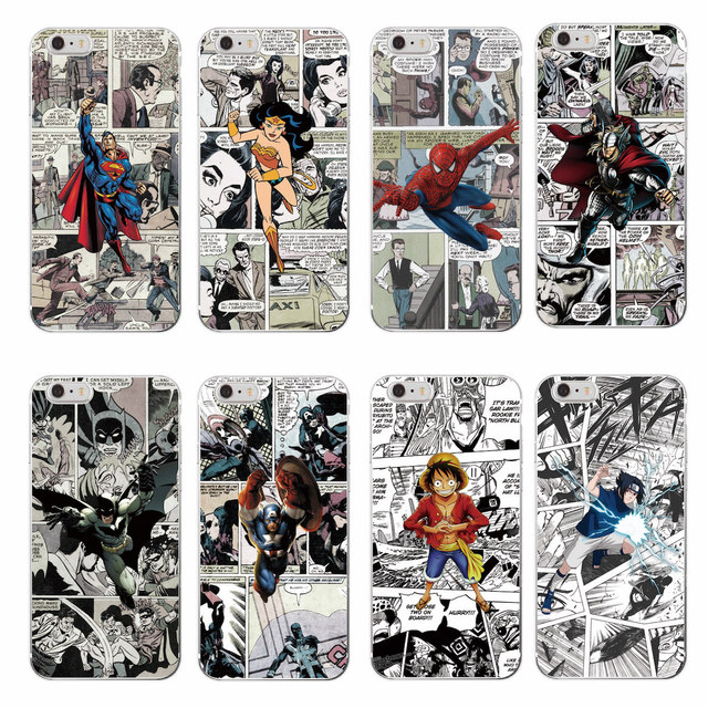 Marvel Comics Soft Case For Samsung & iPhone