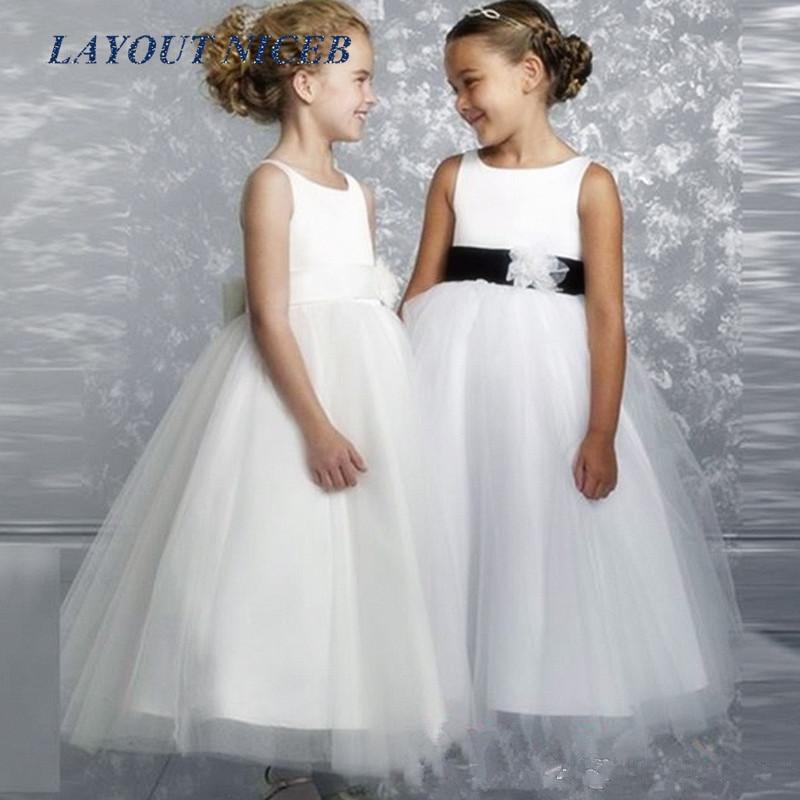 2016 Hot New Fashion   Flower     Girl     Dresses   Child First Communion   Dresses   For   Girls     Dresses   Princess Pageant   Flower     Dress