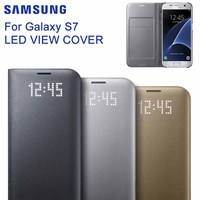 SAMSUNG Original Product LED View Cover Smart Cover Phone Case For Samsung GALAXY S7 G9300 Slim