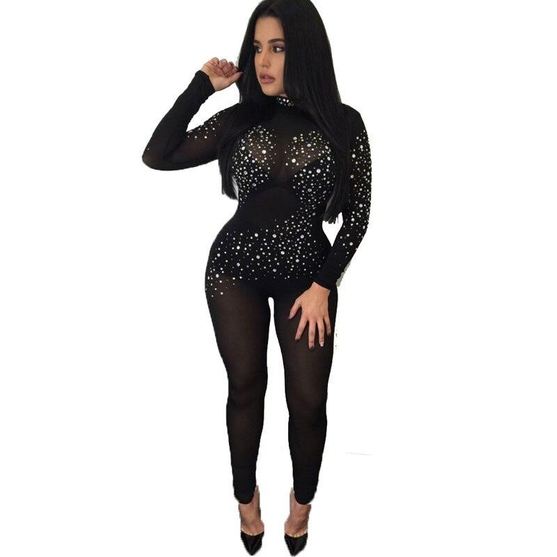 Brilliant Black Long Jumpsuit | Fashion Ql