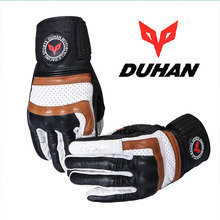 2017 Winter New DUHAN Cowhide leather Motorcycle Gloves Cross-country motorbike glove Wear-resisting Wrestling prevention warm