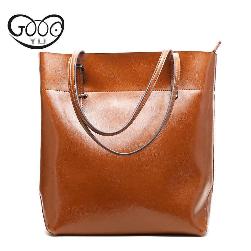 Cow Leather produced Casual Tote with smooth leather is divided into two vertical and horizontal style design Women handbags divided loyalties