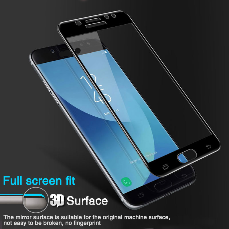 Image 2 - 15D Full coverage Tempered Glass For Samsung Galaxy J3 J5 J7 2017 2016 J4 J6 Plus 2018 on J5 J6 2017 pro Screen Protector Glass-in Phone Screen Protectors from Cellphones & Telecommunications