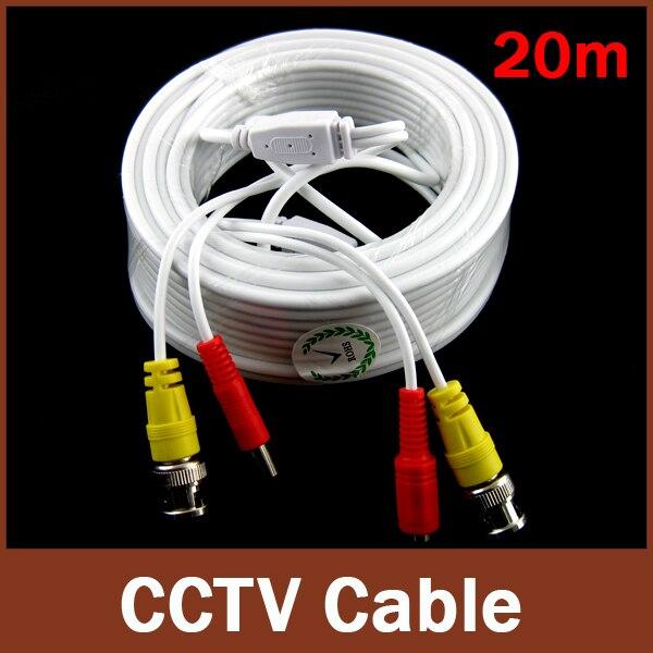 GADINAN White BNC 20M Power video Plug and Play CCTV Cable for CCTV camera bnc м клемма каркам