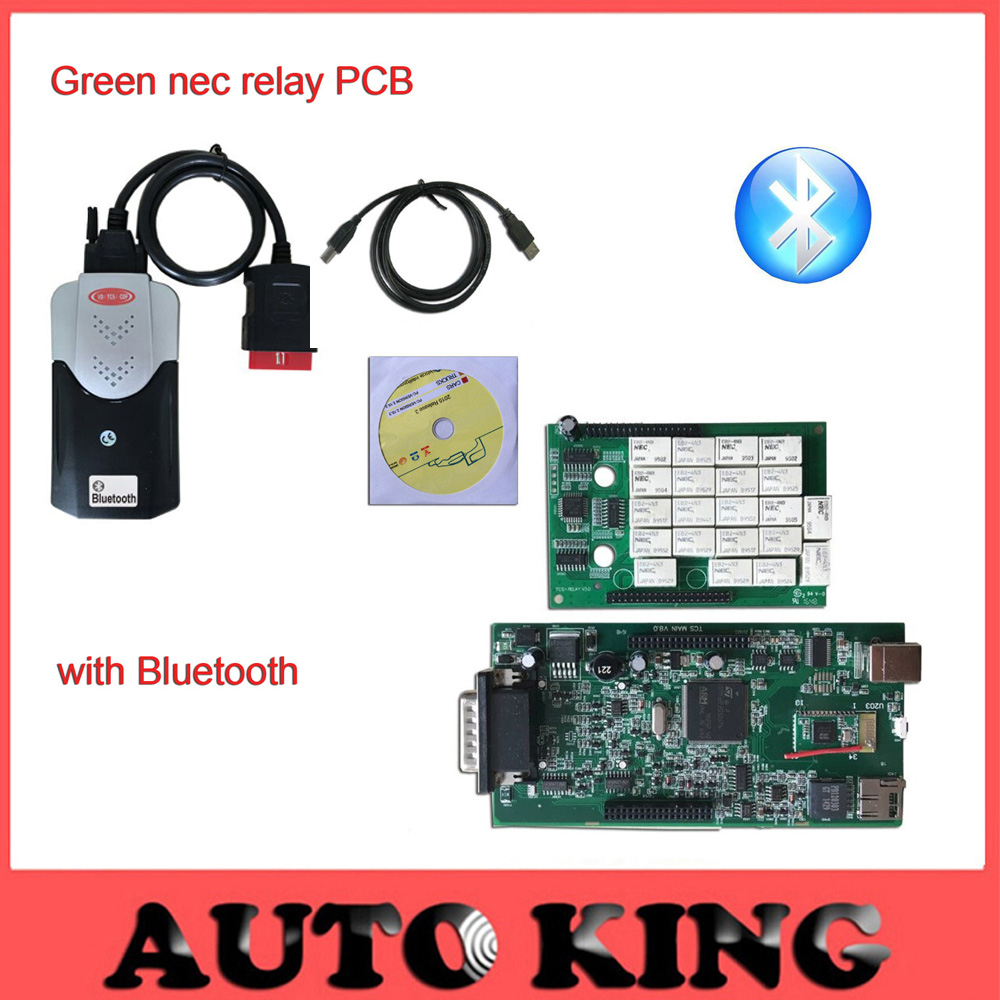 Prix pour Meilleur Qualité japon Ne-c Relais Vert PCB conseil v8.0 VD TCS CDP Pro avec Bluetooth pour voitures et Camions 3in1 obd2 Diagnostic outil