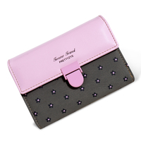 Top Selling Women Wallet High Quality PU Leather Hasp Lady Purse Fashion Style Short Desigh Female