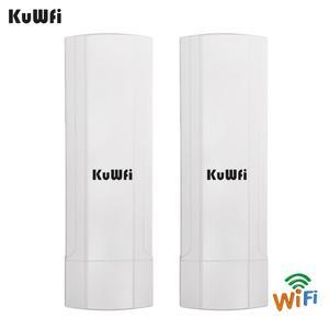 Image 2 - KuWFi Outdoor CPE Router Wifi Repetidor Wifi Extender 2 Pics Distanza di Trasmissione Fino A 3 KM di Velocità Fino A 300 mbps Wireless CPE