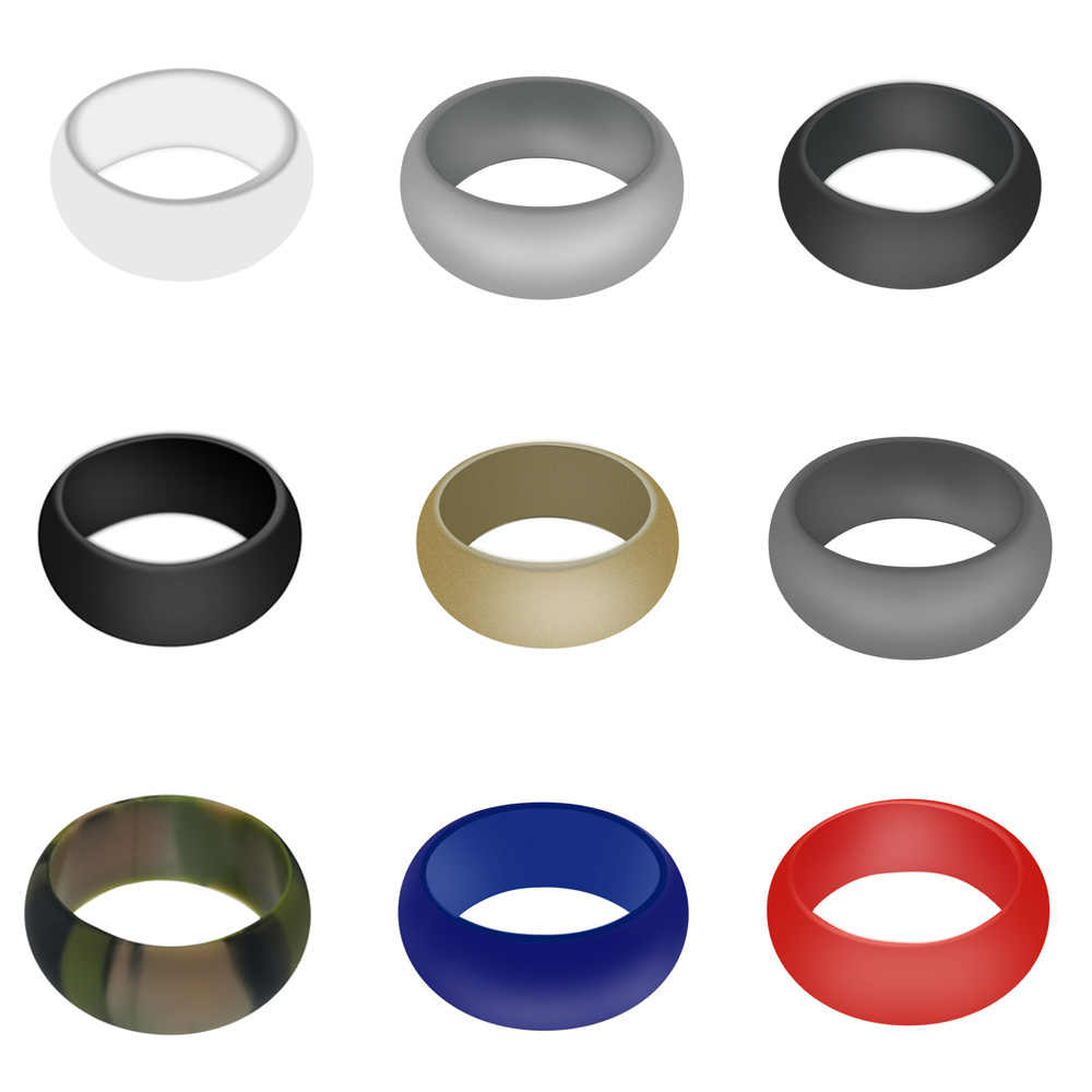 Flexible Silicone Finger Rings Rubber Ring For Men Women Comfortable Outdoor Sport Black White Bands Fashion Jewelry Drop ship