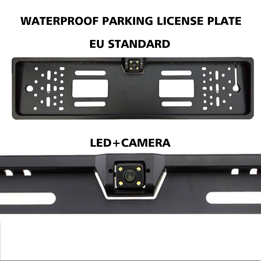 European Parking Auto Car Numbers License Plate Frame Numbered Holder for Jeep Wrangler Jk Accessories Ford Ranger Vw Polo 6r T5
