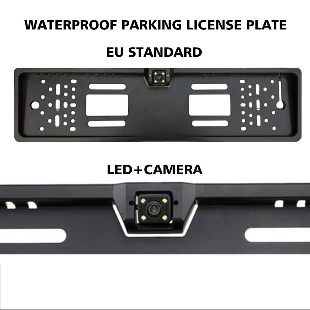 Os Números Do Carro de Estacionamento Auto europeia Moldura Da Placa de Licença Titular Numeradas para Jeep Wrangler Jk Acessórios Ford Ranger Vw Polo 6r t5