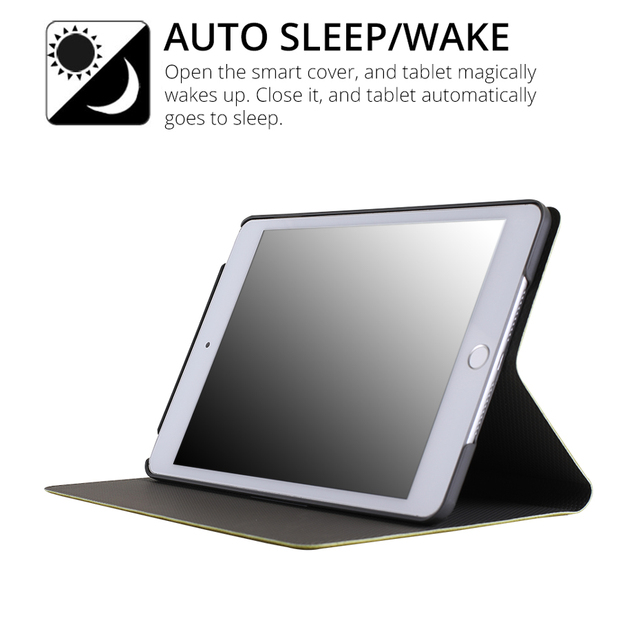 """iBuyiWin Case for iPad 2017 2018 9.7"""" New Tablet Stand PU Leather Magnet Smart Cover Auto Sleep/Wake for iPad 2017 9.7 inch+Film 4"""