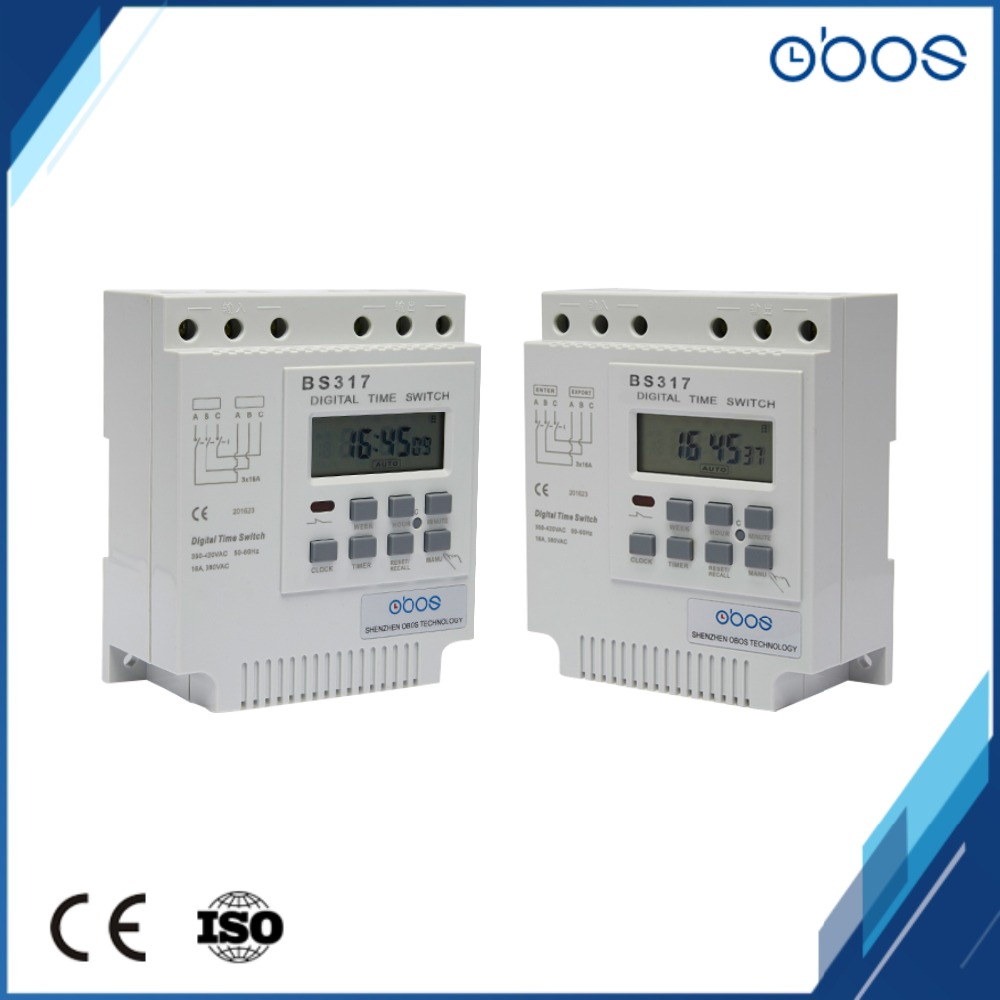 Three phase 380V 50/60Hz electronic timer microcomputer time switch ...