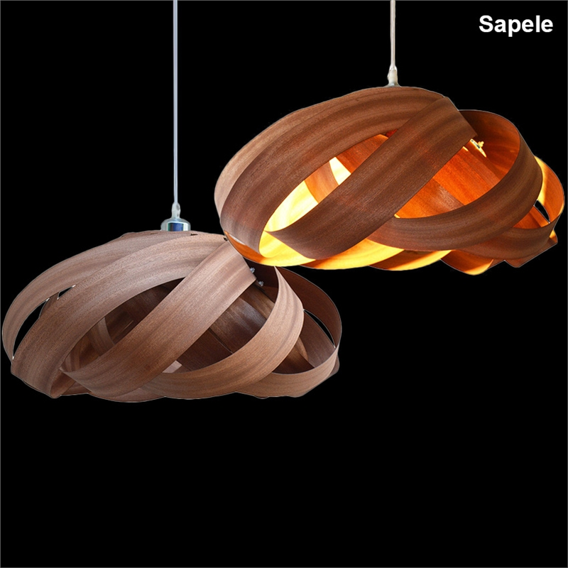 Novelty Indoor Wood Hand-weaving pendant lamp lights dining room living room light e27 110v/ 220v for decor luminaria