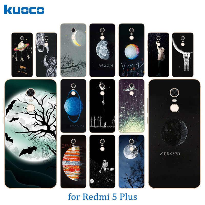 5,99 дюймов для Xiaomi Redmi 5 Plus задняя крышка роскошный силиконовый космический Луна для Redmi5 Plus телефонные чехлы для Hongmi 5 Plus прозрачный чехол