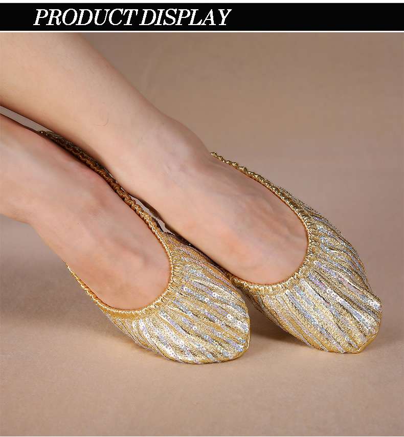 Leather Split Sole Ballet Shoe Metallic Gold Adult European 38//US 7.5 fits 7