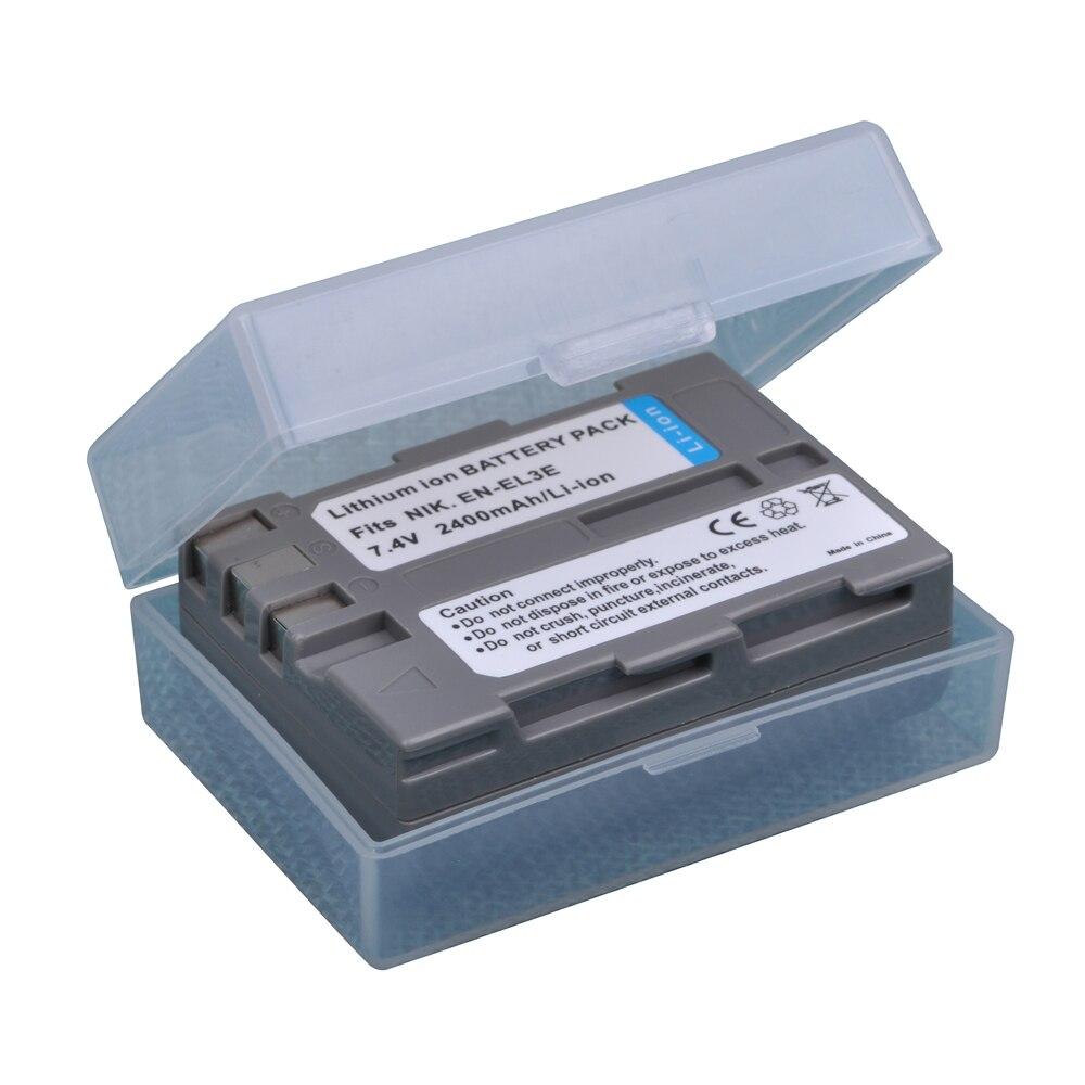1Pcs 2400mAh EN-EL3e EN EL3e ENEL3e Batteries for Nikon D30 D50 D70 D70S D90 D80 D100 D200 D300 D300S D700 Digital Camera