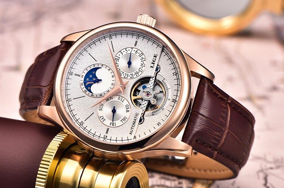 de luxo automático relógio mecânico negócios à