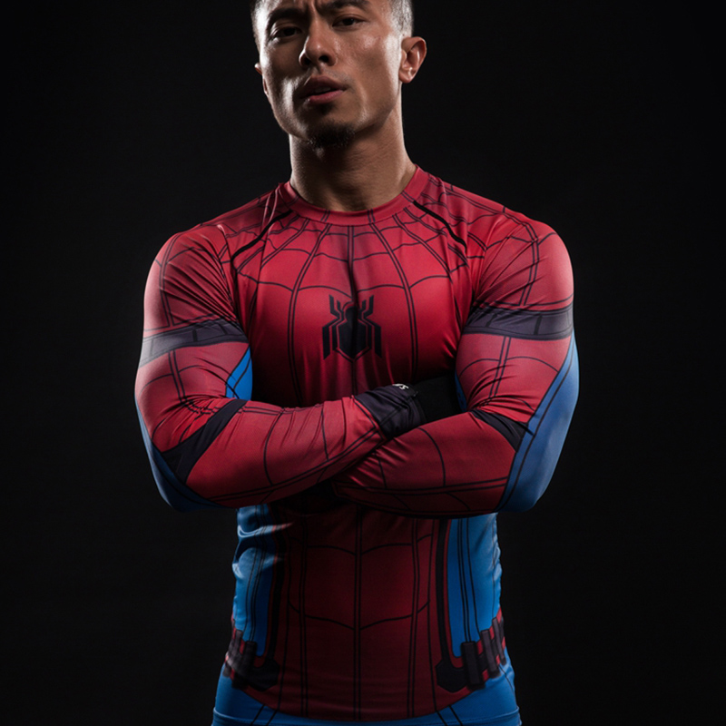 a6bd2bc4 Detail Feedback Questions about 2017 New Print T shirt Mens Long Sleeve 3d  Superhero Spiderman Men Compression Shirt Fitness Bodybuilding T Shirt  Anime on ...