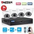 Tmezon 4CH 1080 P TVI DVR 4 шт. 2.0MP 1080 P TVI Камеры Безопасности Системы Видеонаблюдения Ик-cut Ночного Видения до 40 М Комплект