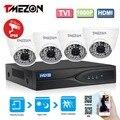Tmezon 4ch 1080 p tvi dvr 4 unids 2.0mp 1080 p tvi cámara de seguridad Sistema de vigilancia CCTV Ir-cortó la Visión Nocturna de hasta 40 Metro Kit