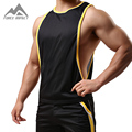 New Men's Vigor Casual Tank Tops Low Cut Side Arm Holes Racer-cut Back Vest SXB051 Mesh Breathable Ultimate Workout Men's Tees