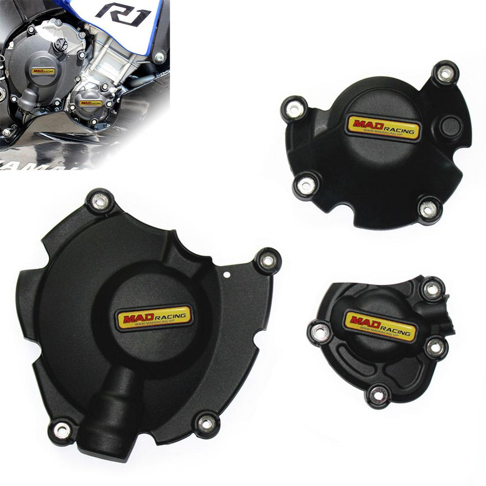 For YZF-<font><b>R1</b></font> 2015 2016 2017 2018 <font><b>2019</b></font> Motorcycles Engine Cover Protection case Engine Guard Black Protective Cover Engine Slider image