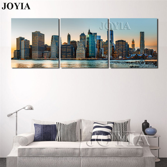 Large Pictures Wall Art Manhattan Cityscape Canvas Print New York ...
