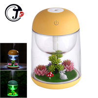 180ml Landscape Ultrasonic Humidifier Air Humidifier Home Appliances Aroma Essential Oil Diffuser Mist Maker Fogger With