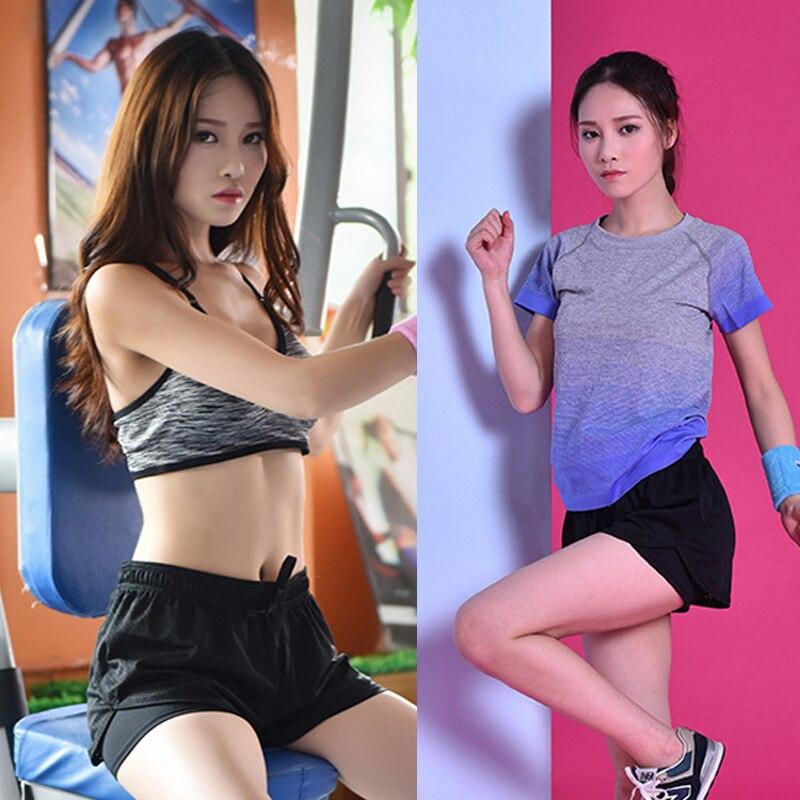 Популярный женский спортивный фитнес шорты для йоги 2 в 1 быстросохнущие спортивные беговые шорты с эластичной талией HV99