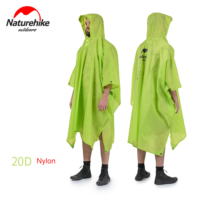 Naturehike 3 in 1 Outdoor Camping Raincoat Cycling Backpack Rain Cover One Piece Poncho Cape For Women Men Free Size  benkia motorcycle rain coat two piece raincoat suit riding rain gear outdoor men women camping fishing rain gear poncho