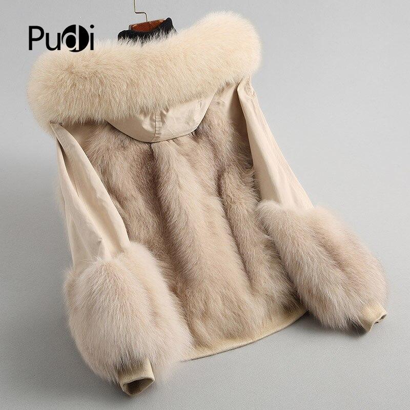 Col Pardessus Parka De Automne Pudi D'hiver Polyester Hiver Femmes Veste Fourrure A68244 2018 Chaud Renard Réel Manteau xYYtqBPRw