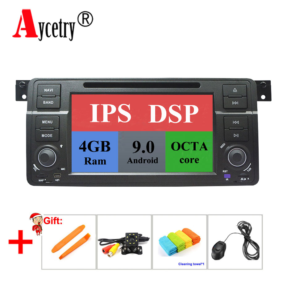 Aycetry DSP IPS octa core 4G RAM Android 9 Car dvd Multimedia player GPS Autoradio For BMW E46 M3 Rover 3 Series car radio obd2 number