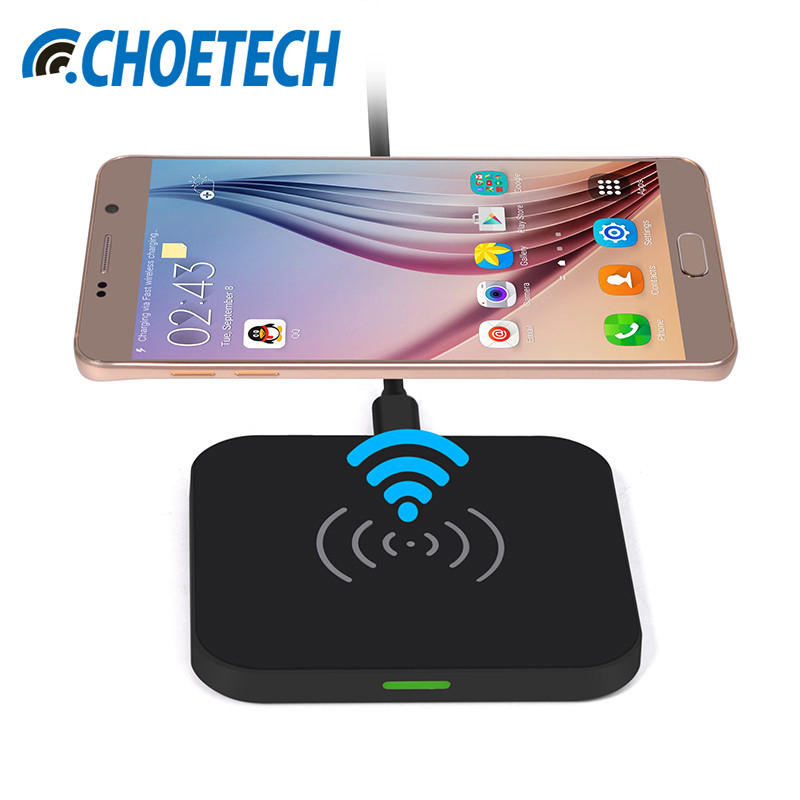 Fast QI Wireless Charger For iPhone X 10W Charging Pad Qi-Enabled Devices Mobile Phone Charger For iPhone 8 Plus CHOETECH