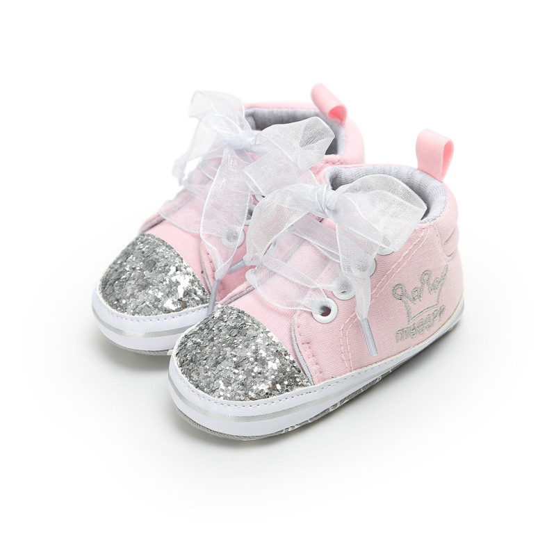 Girl Baby Soft Sole Shoes Princess Infant Sequins Sneaker
