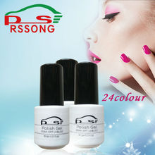 Nail Gel Three Step Polish Gel Long-lasting Colorful Soak-off Gel Nail LED UV 6ml Hot Nail Gel 24 Colors Choose