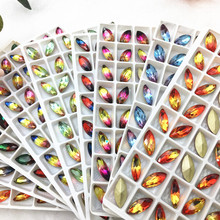 Loose Rhinestones 7*15mm/9*18mm New Color Horse Eye Crystal Fancy Stone K9 Glass Jewelry Making Round Beads Quality