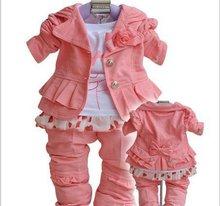 Xemonale costumes enfants mode sweat à capuche de Détail + drop shipping manteau + chemise + pantalon ensemble Bébé filles vêtements ensembles 3 pcs